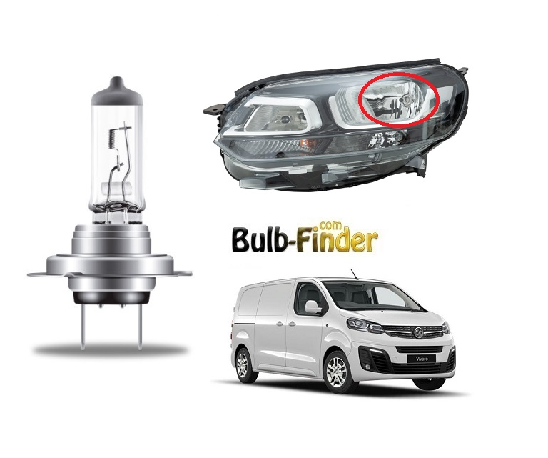 Vauxhall Vivaro mK3 BULBS TYPE