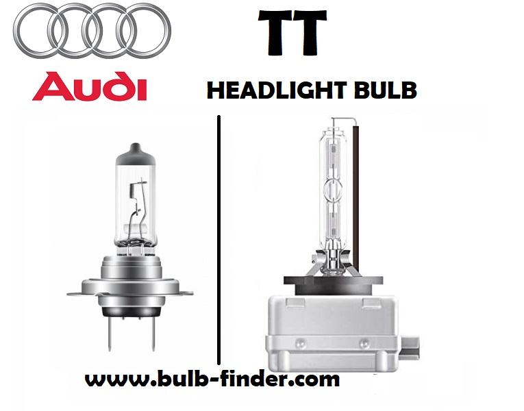 Audi TT headlights lamp type