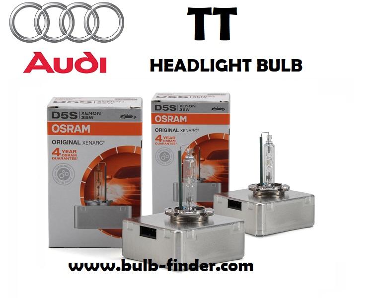 Audi TT headlights bulb type