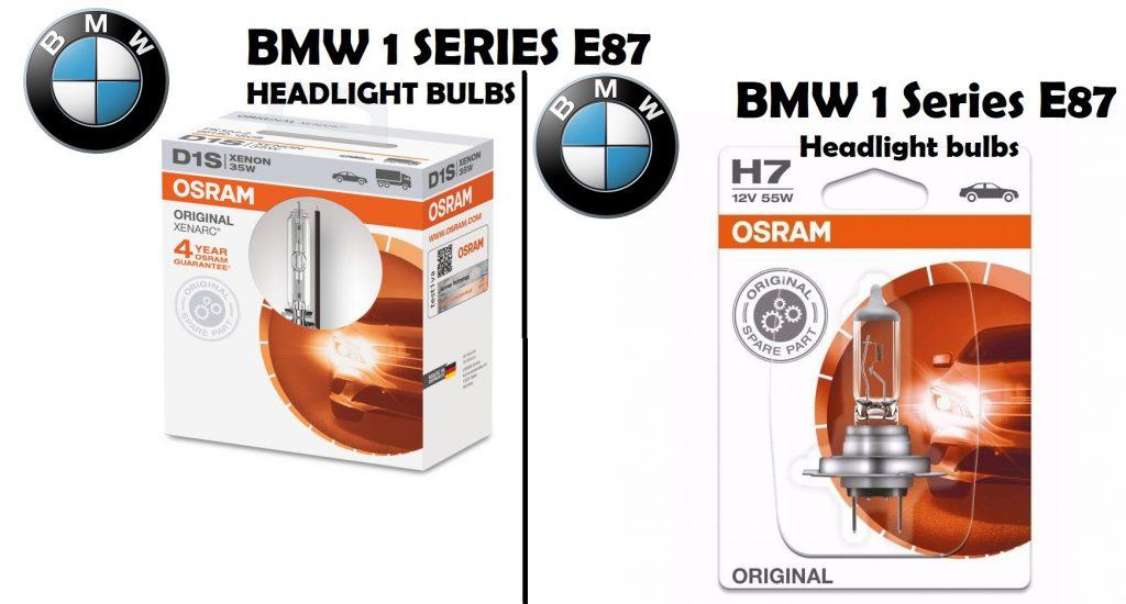 BMW 1 Series E87 headlights bulb finder