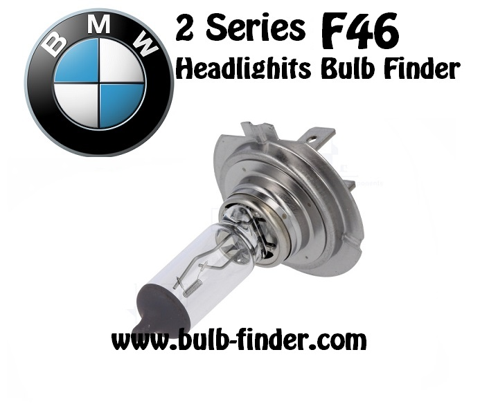 Bulbs model type BMW 2 series