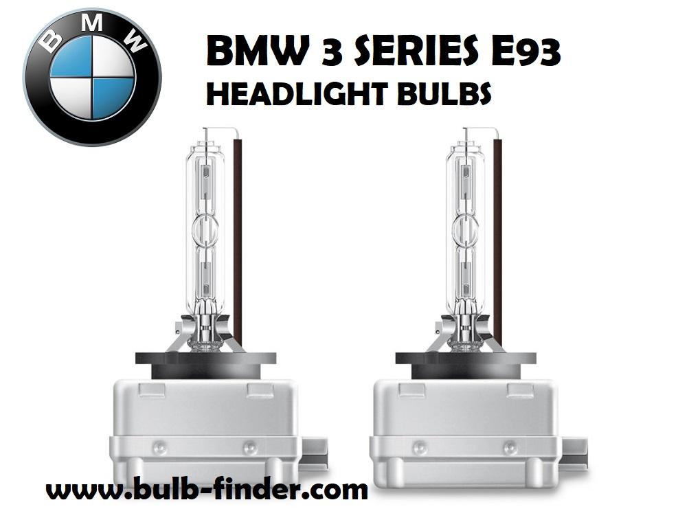 BMW 3 Series E93 bulbs headlight models