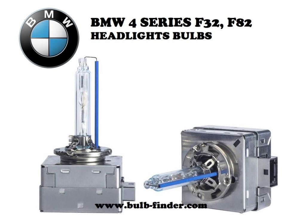 BMW 4 Series F32, F82 headlight bulbs model