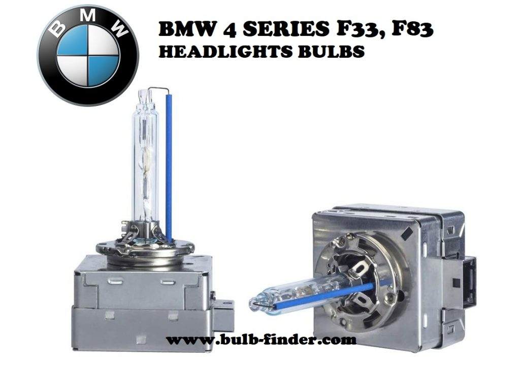 BMW 4 Series F33, F83 headlight bulbs model