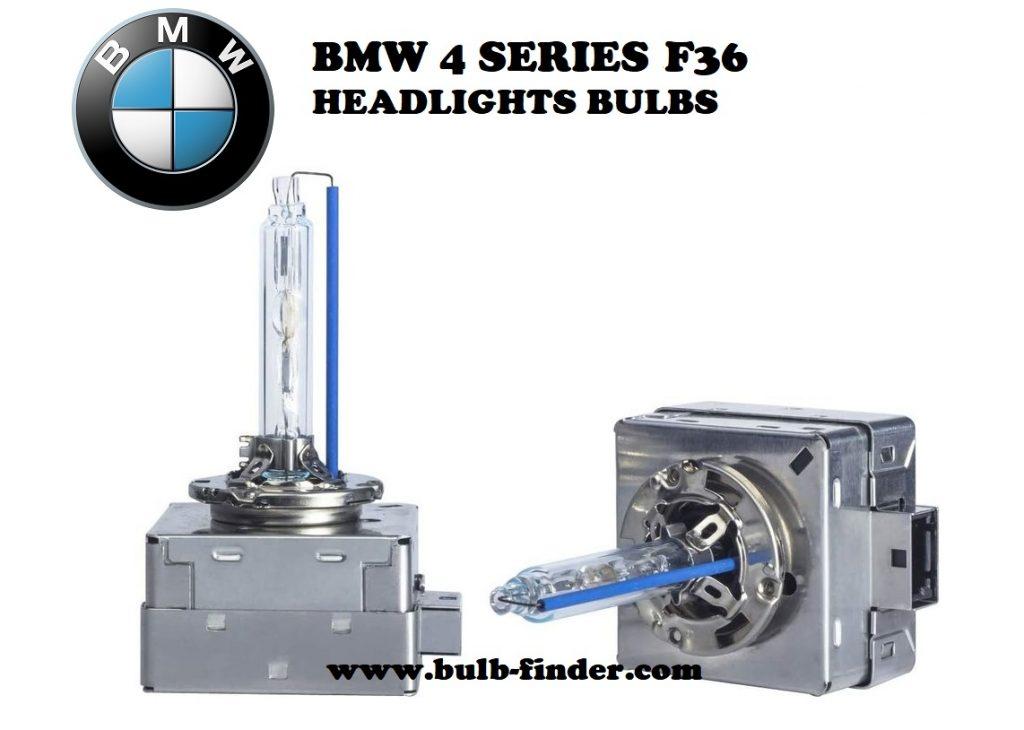 BMW 4 Series F36 headlight bulbs model