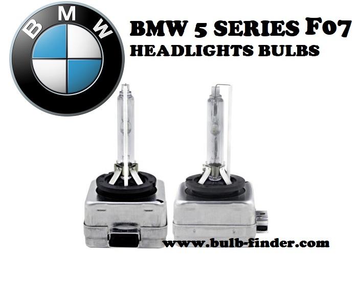 BMW 5 Series F07 headlights bulbs model