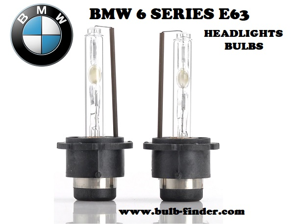BMW 6 Series E63 headlights bulbs model