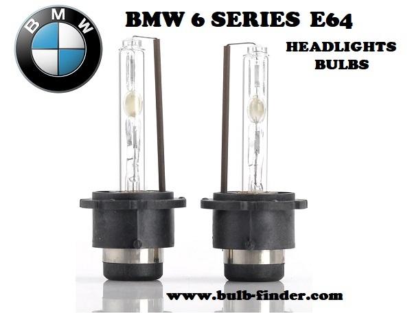 BMW 6 Series E64 headlights bulbs model