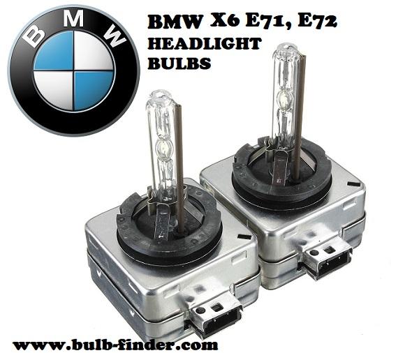 BMW X6 E71, E72 front headlamps bulbs type
