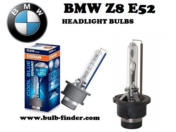 BMW Z8 E52 front headlamps bulbs type D2S, 85V 35W P32d-2, 66240
