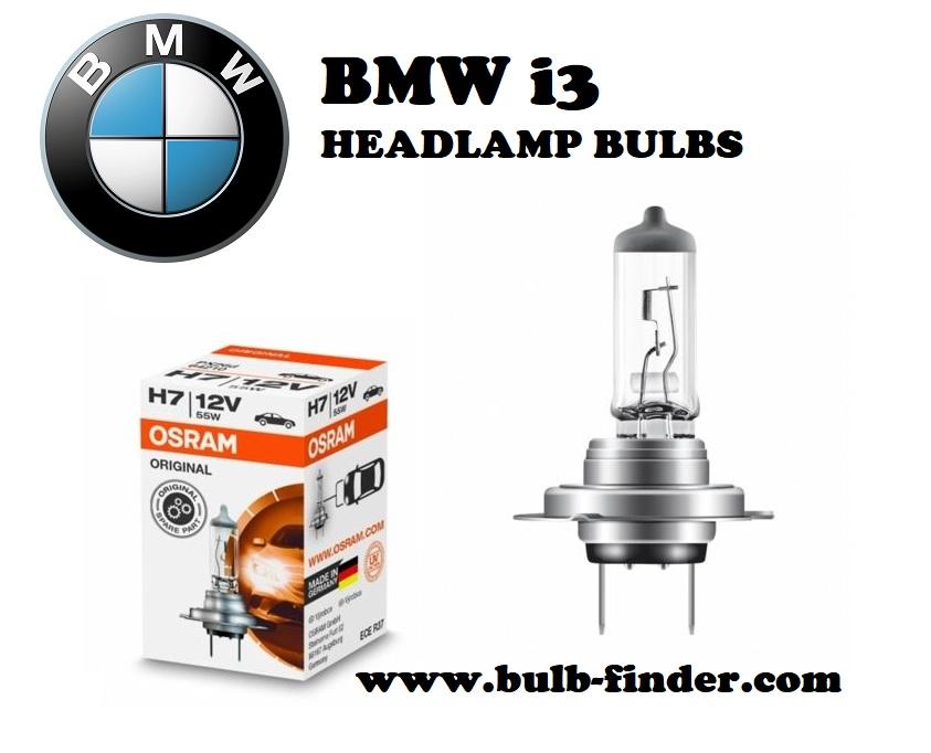 BMW i3 headlights bulbs type