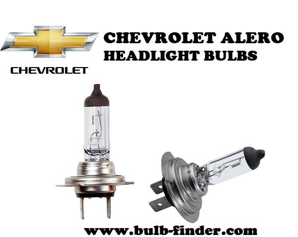 Chevrolet Alero front headlamps bulbs type