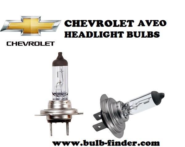 Chevrolet Aveo front headlamps bulbs type