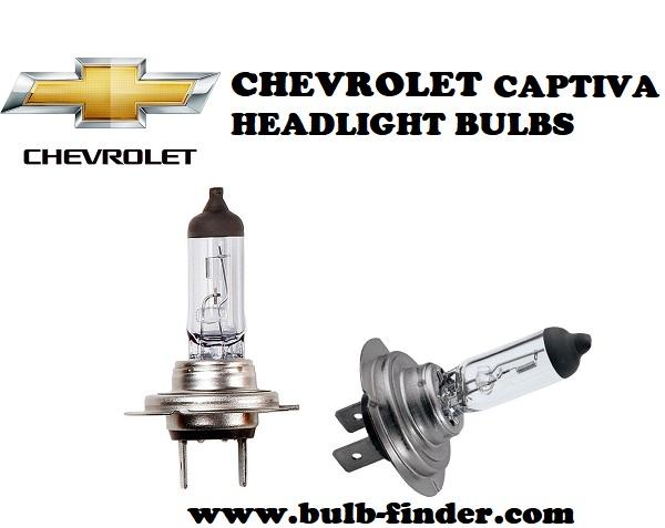 Chevrolet Captiva front headlamps bulbs type