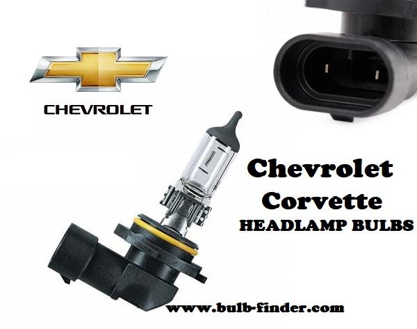Chevrolet Corvette front headlamps bulbs type