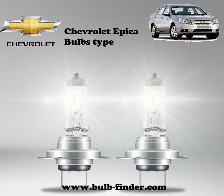 Chevrolet Epica bulbs model