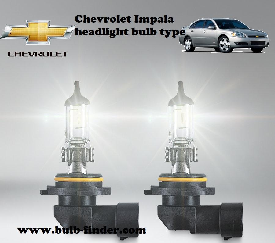 Chevrolet Impala headlamp bulb specification