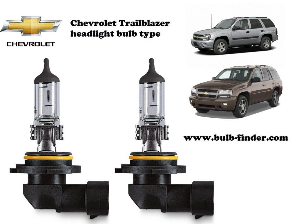 Chevrolet Trailblazer headlamp bulb specification