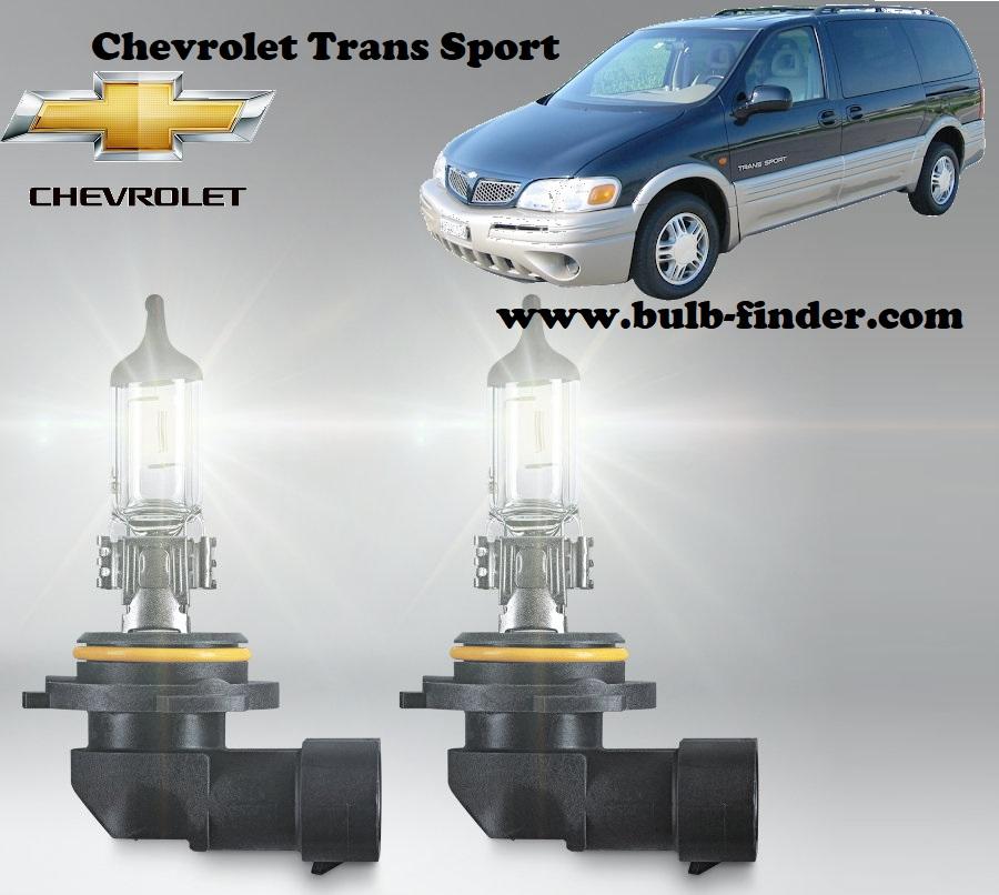 Chevrolet Trans Sport headlamp bulb specification