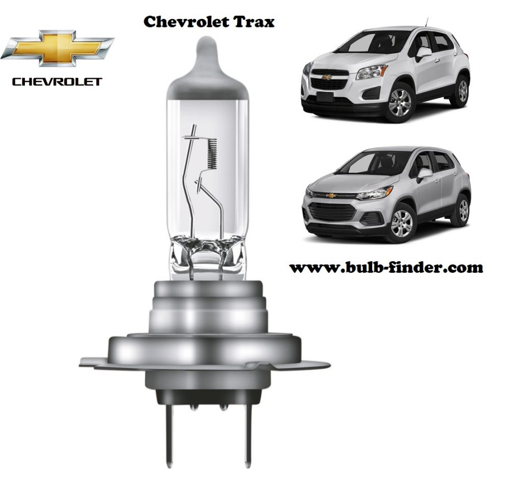 Chevrolet Trax headlamp bulb specification