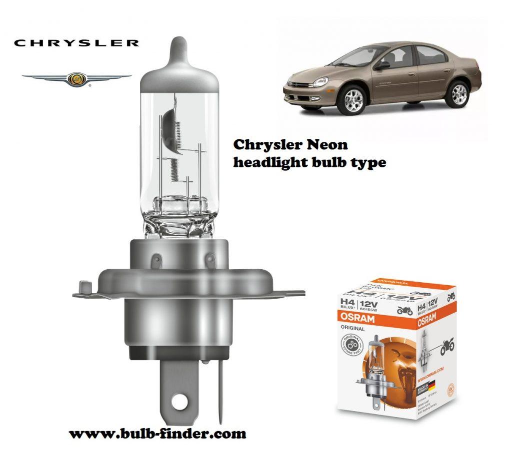Chrysler Neon headlamp bulb specification