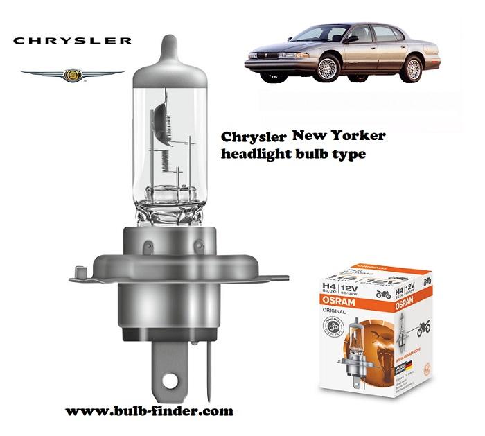 Chrysler New Yorker headlamp bulb specification
