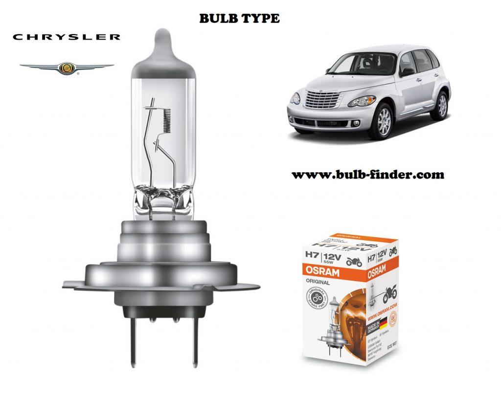 Chrysler Pt Cruiser headlamp bulb specification