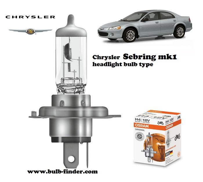 Chrysler Sebring headlamp bulb specification