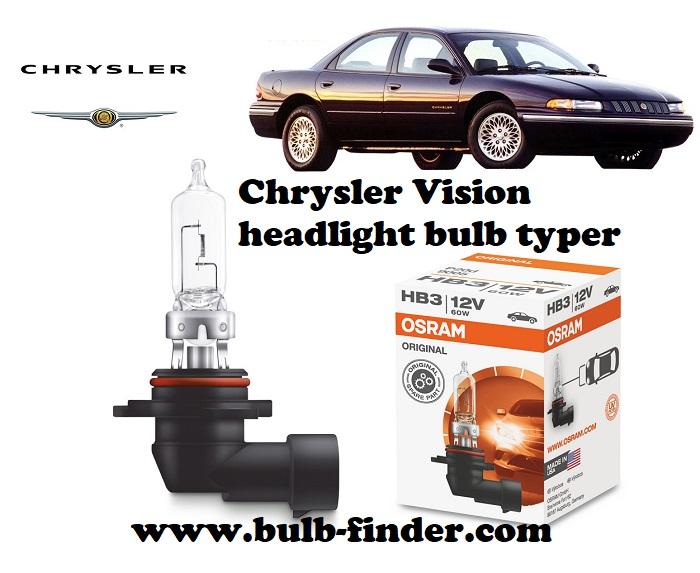 Chrysler Vision headlamp bulb specification