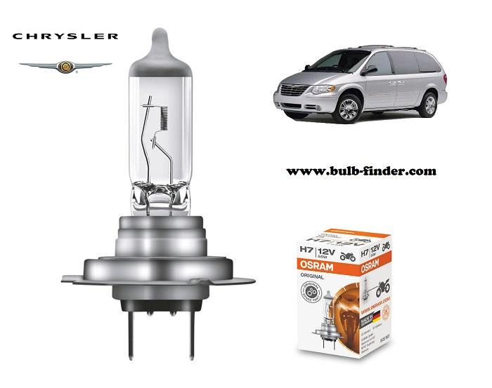 Chrysler Voyager headlamp bulb specification