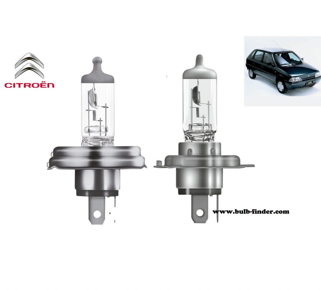 Citroen AX headlamp bulb specification
