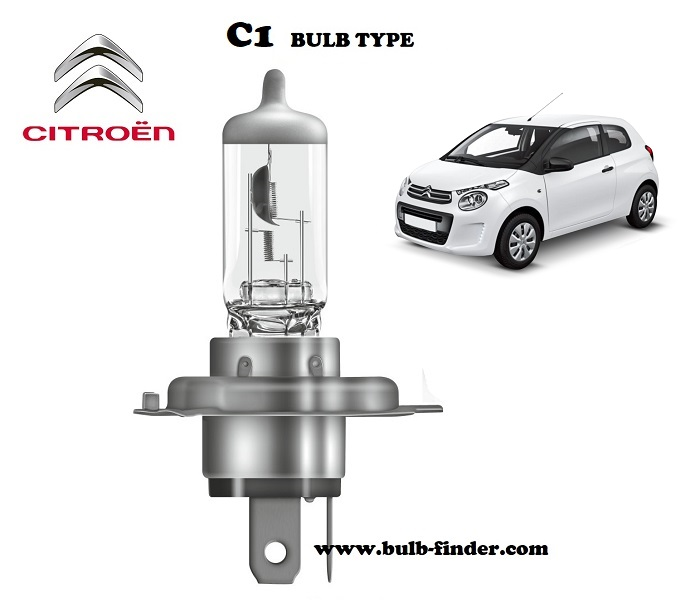 Citroen C1 headlamp bulb specification