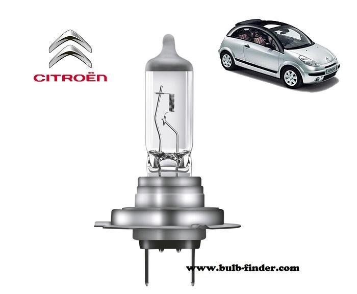 Citroen C3 Pluriel headlamp bulb specification
