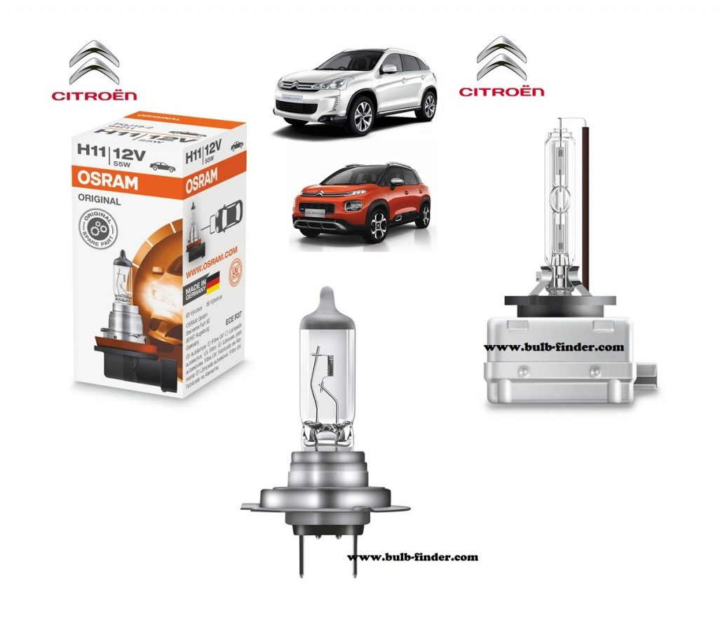 Citroen C4 Aircross headlamp bulb specification