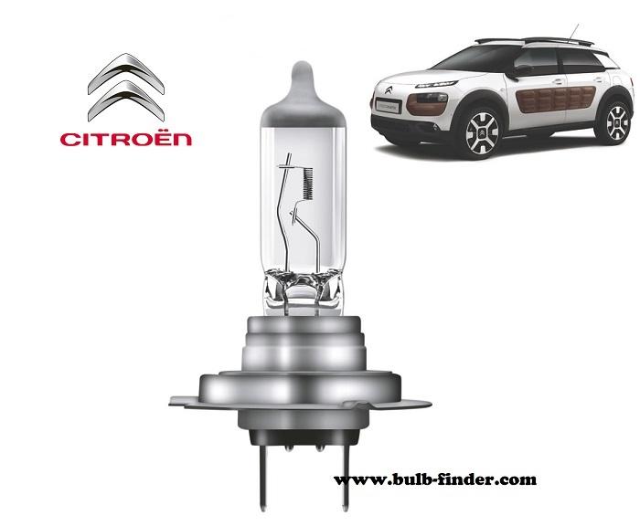 Citroen C4 Cactus headlamp bulb specification