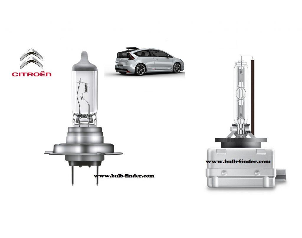 Citroen C4 Coupe headlamp bulb specification