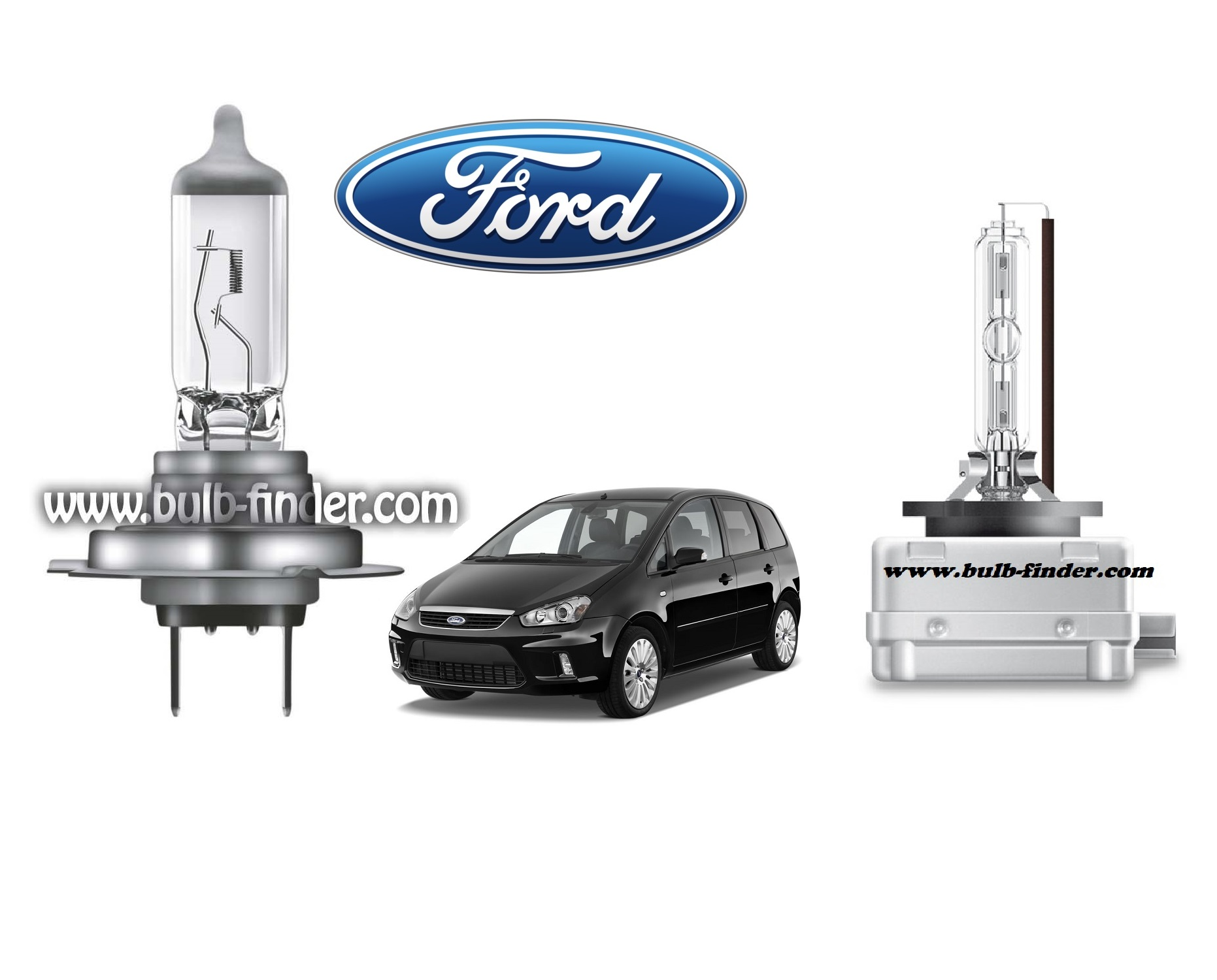 Ford C Max bulb model LOW BEAM specification