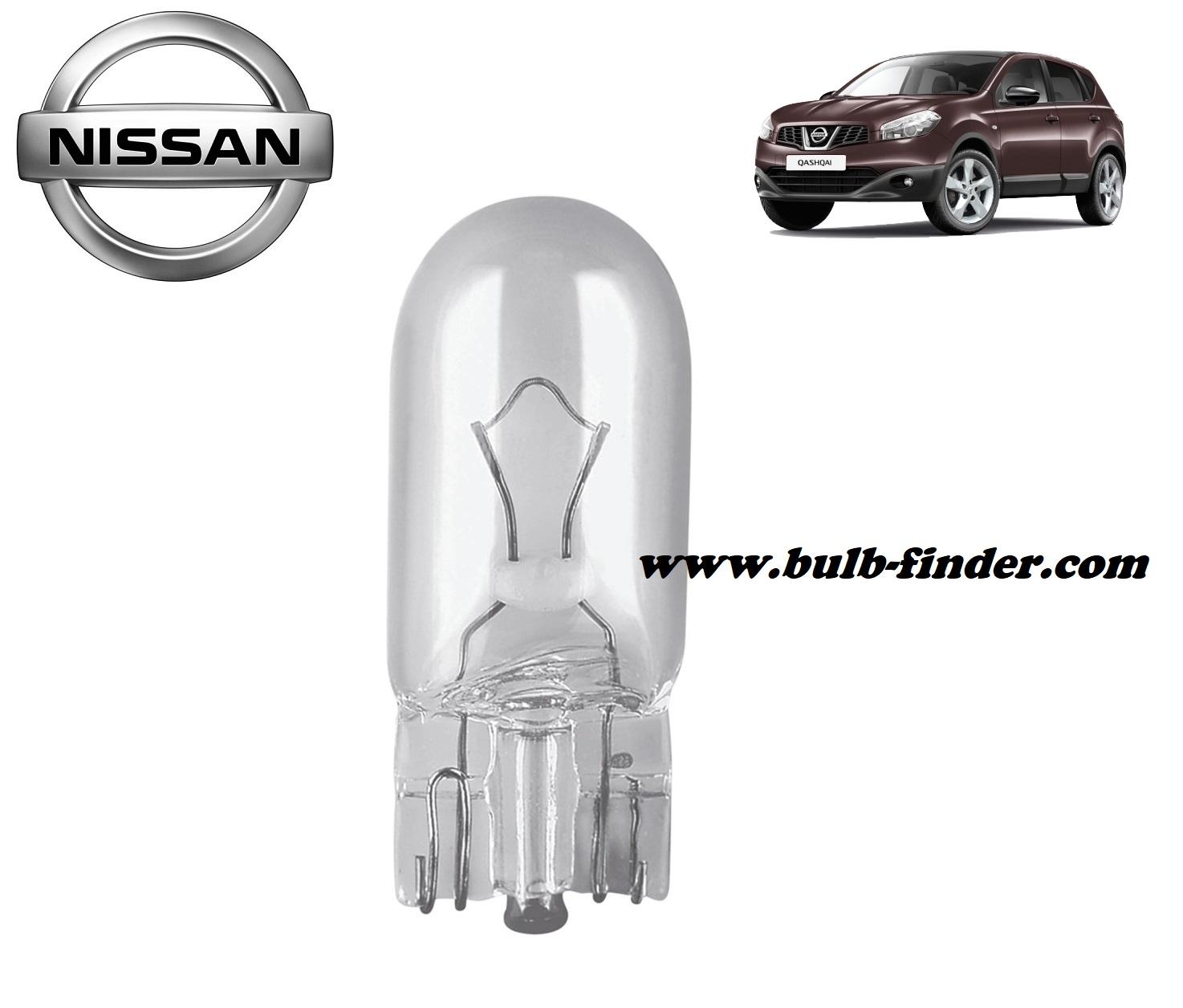 Nissan Qashqai bulb model LICENSE PLATE LAMP