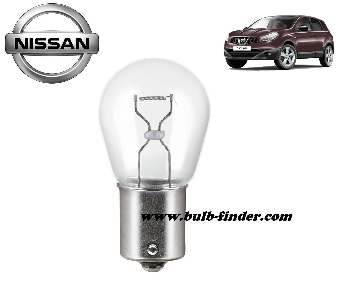 Nissan Qashqai bulb model REAR FOG LAMP