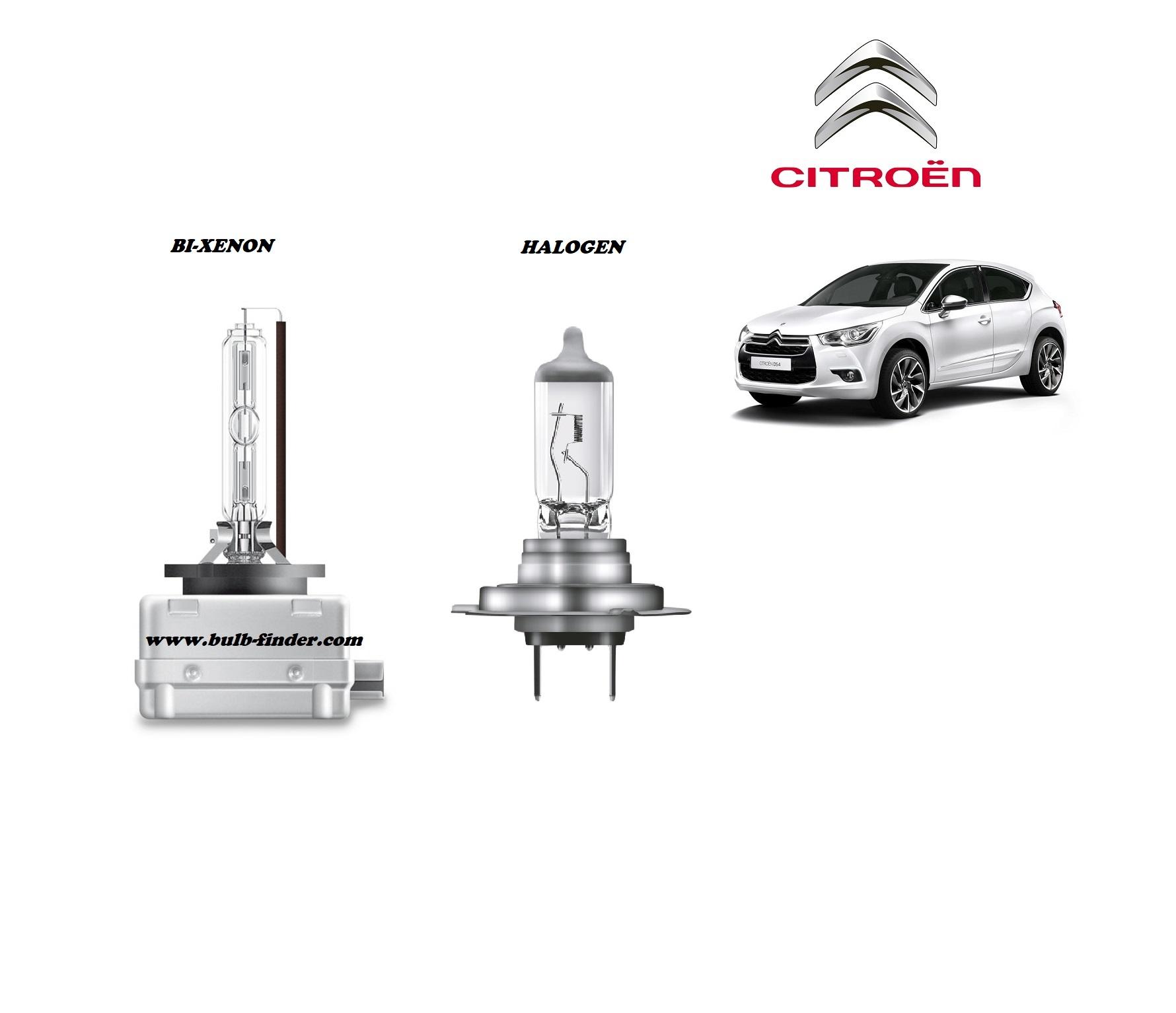 Citroen DS4 bulb type LOW BEAM HEADLIGHT