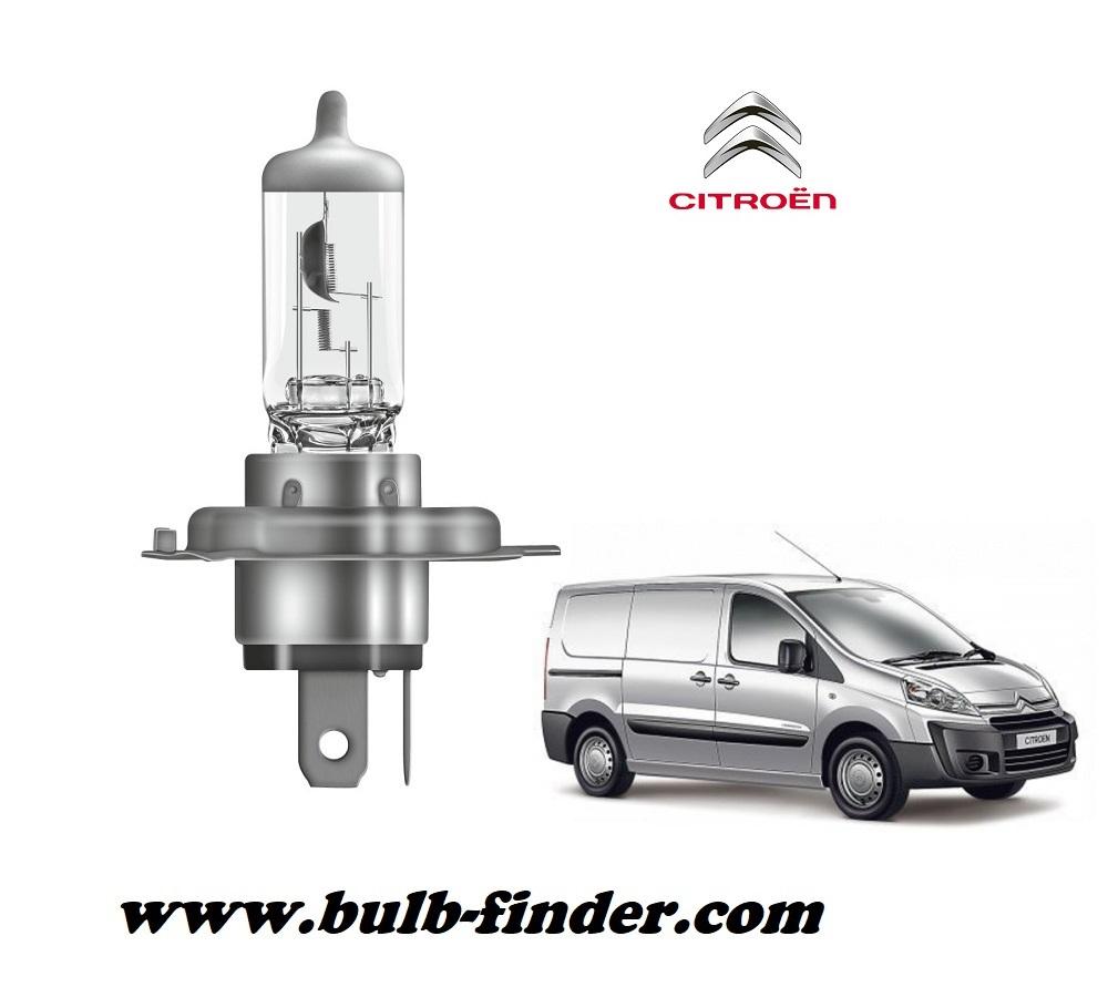 Citroen Dispatch bulb type LOW BEAM HEADLIGHT