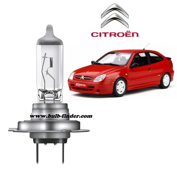 Citroen Xsara bulb model LOW BEAM specification