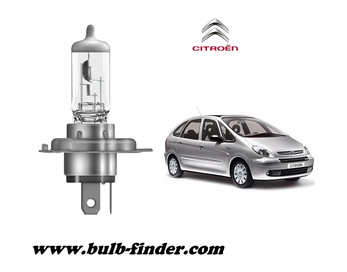 Citroen Xsara Picasso bulb model LOW BEAM specification