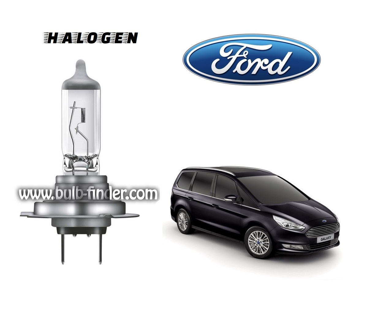 Ford Galaxy 3 bulb model LOW BEAM specification