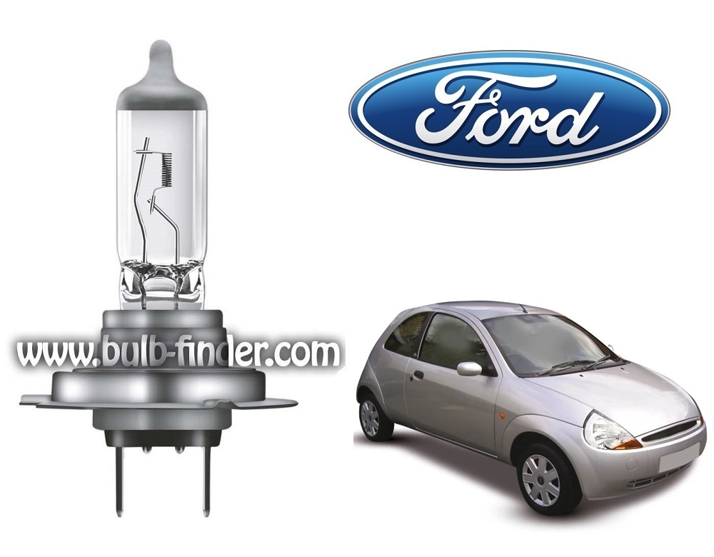 Ford Ka 1 bulb model LOW BEAM specification