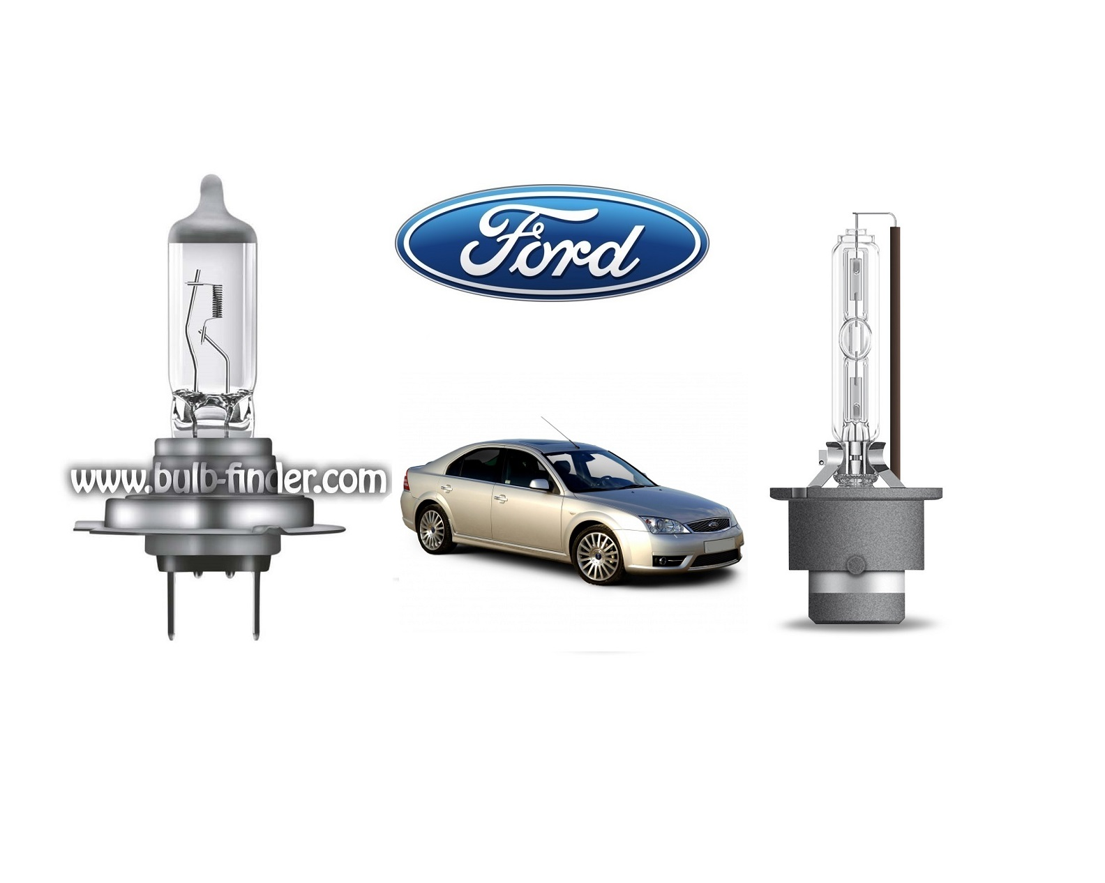 Ford Mondeo mk3 bulb model LOW BEAM specification