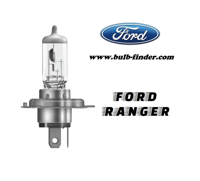 Ford Ranger 2 bulb model LOW BEAM specification
