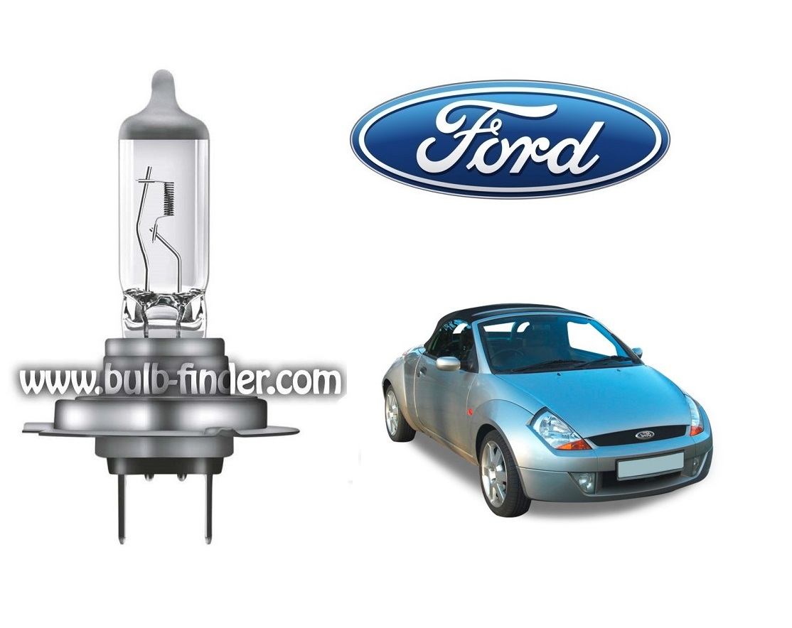 Ford Street KA cabrio bulb model LOW BEAM specification