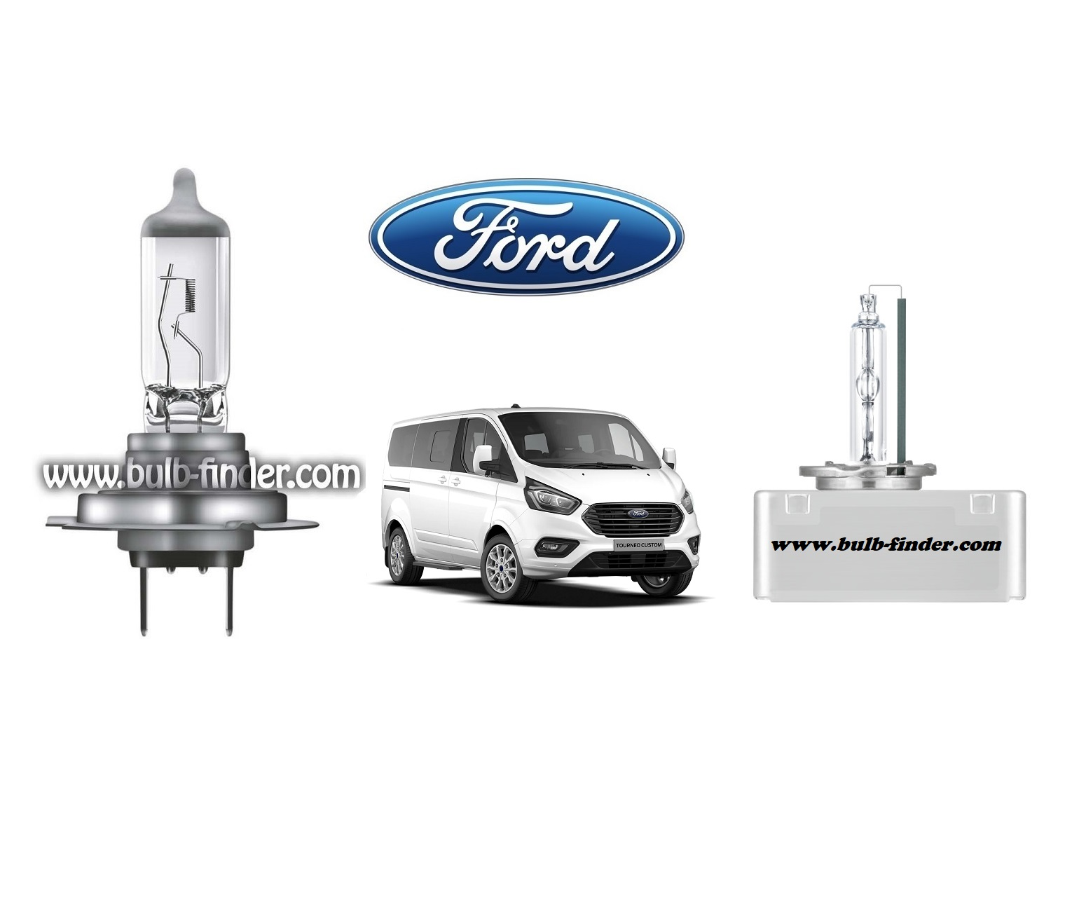 Ford Tourneo Custom 1 bulb model LOW BEAM specification