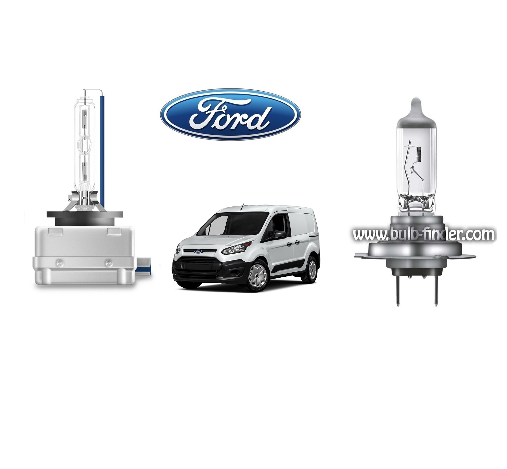 Ford Transit Connect bulb model LOW BEAM specification